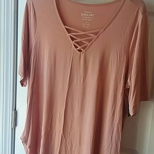 NWT Torrid Pink strappy tunic (3)